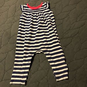 Tea collection girls size 6-9 striped romper